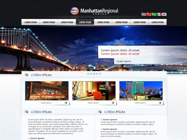 Manhattan Regional Center WordPress theme design