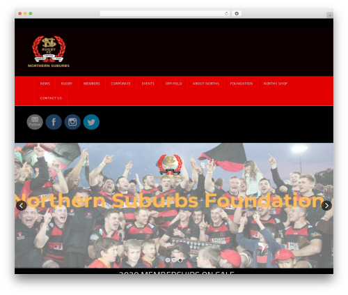 Template WordPress GoalKlub - northsrugby.com.au