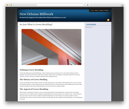WordPress theme Affiliate Internet Marketing theme - neworleansmillwork.com