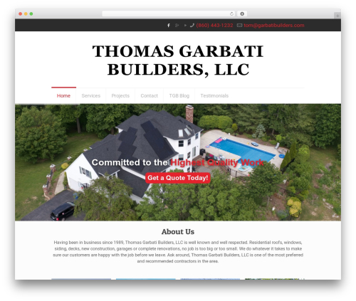 Betheme WordPress theme design - garbatibuilders.com