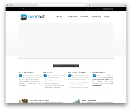 Corona WordPress theme - neonext.fr
