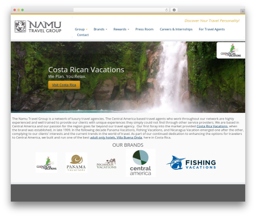 Customizr free website theme - namutravel.com
