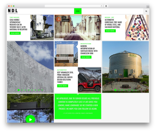 Flow WordPress news theme - newsdesignlist.it