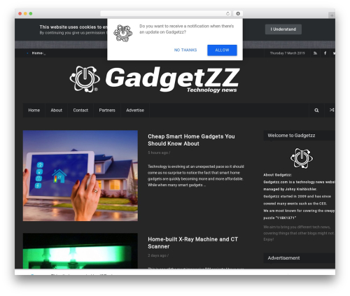 iPress WordPress news template - gadgetzz.com