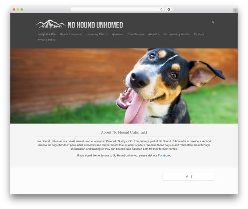 Rescue theme WordPress - nohoundunhomed.org