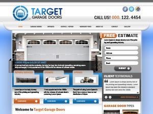 Target Garage Doors best WordPress template