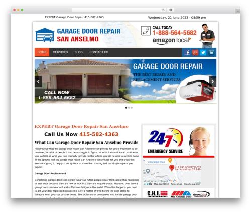 Twenty Thirteen WordPress website template - garagedoorrepairsananselmocal.com