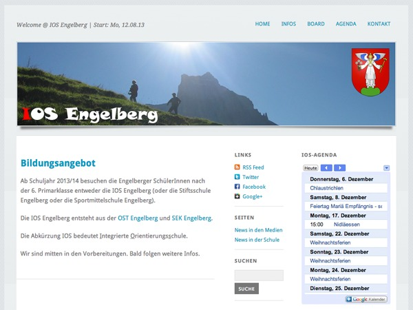 Best WordPress template Gemeindeschule Engelberg