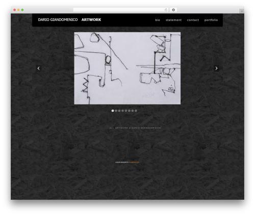 WP theme Acoustic - giandomenico-art.com