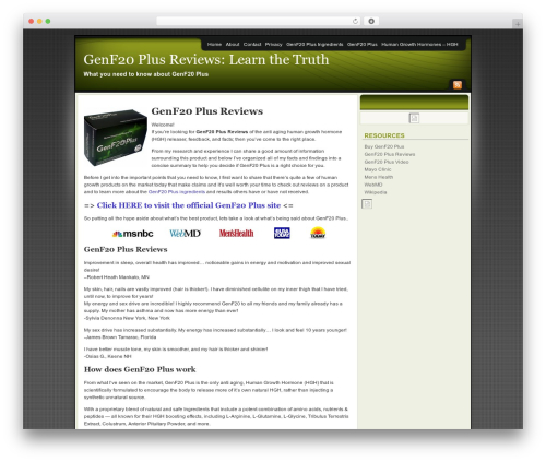Affiliate Internet Marketing theme WordPress news theme - genf20plusinfo.com