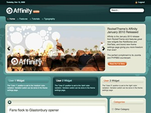 Affinity Wordpress Theme WordPress page template