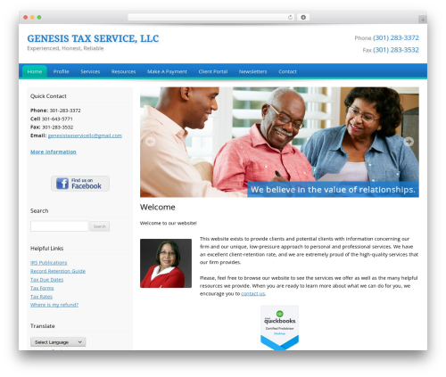 Best WordPress template Customized - genesistaxsavings.com