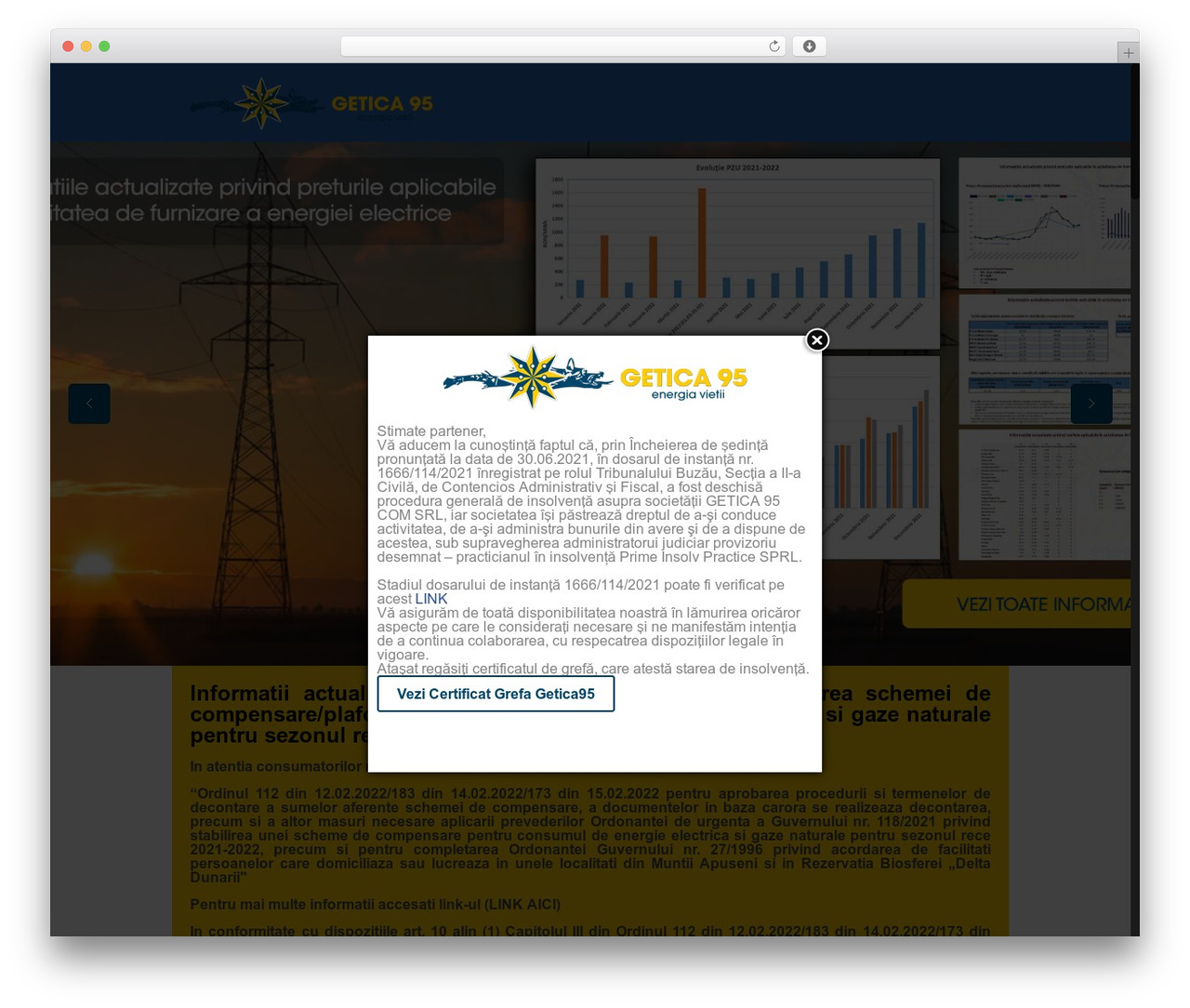 Betheme WordPress website template - getica95.ro