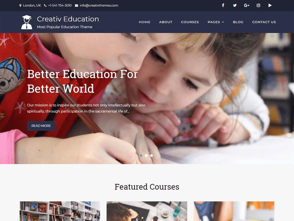 Creativ Education business WordPress theme