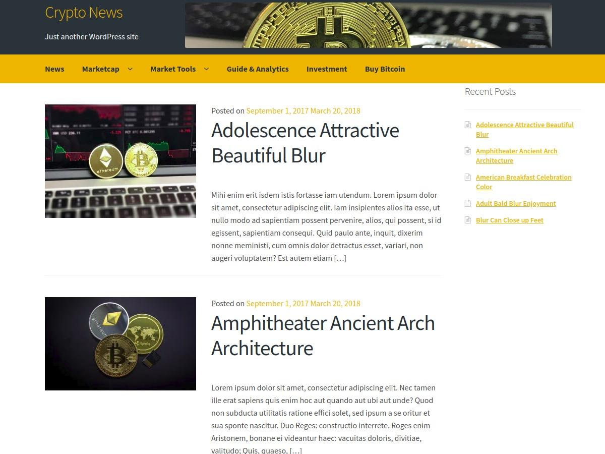Crypto News newspaper WordPress theme