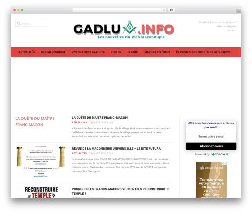Headline News WordPress magazine theme - gadlu.info