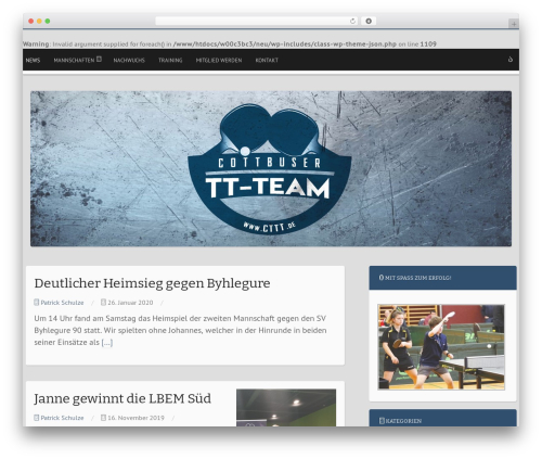 Mixr theme WordPress - new.cttt.de
