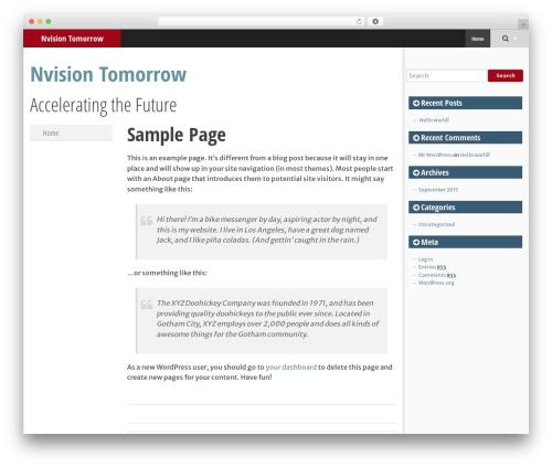 SmartAdapt template WordPress free - nvisiontomorrow.org