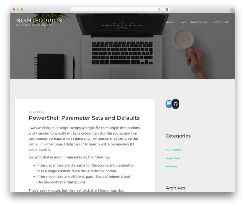 TheFour Lite best free WordPress theme - nointerrupts.com