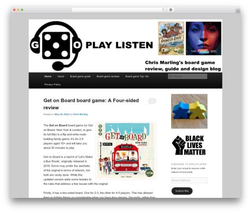 Twenty Eleven WordPress page template - goplaylisten.com
