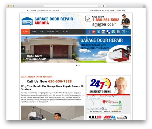 Twenty Thirteen business WordPress theme - garagedoorsrepairaurorail.com