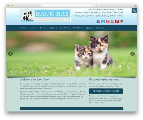 WordPress theme Truffles - newportbeachdogboarding.com