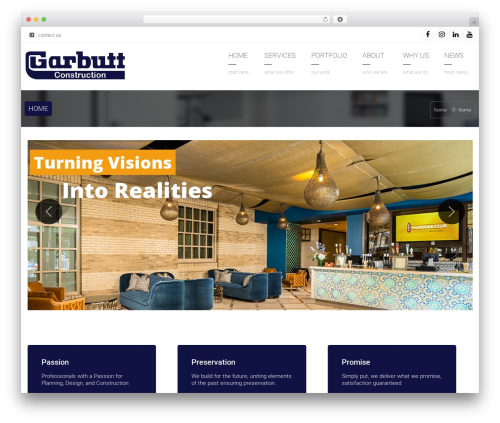 Arkitekt template WordPress - garbuttconstruction.com