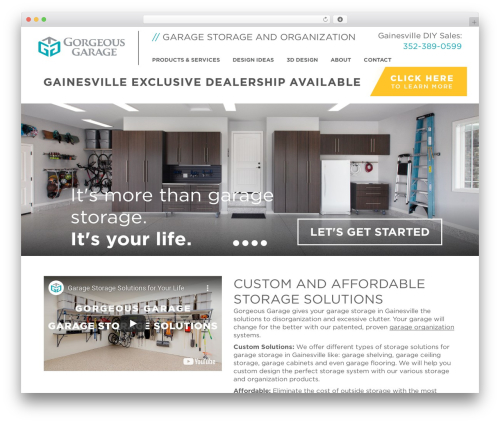 Free WordPress Custom Banners plugin - garagesolutionsgainesville.com