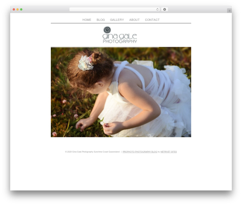 ProPhoto WordPress page template - ginagalephotography.com.au