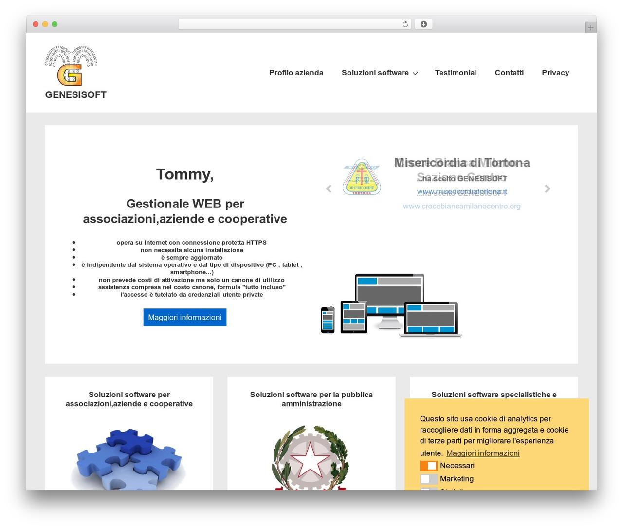 Responsive WordPress template free download - genesisoft.it