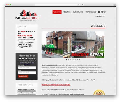 Tesla free website theme - newpointconstruction.ca