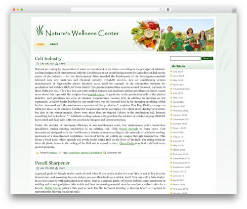 WordPress theme Healthy Lifestyle - natureswellnesscenter.com
