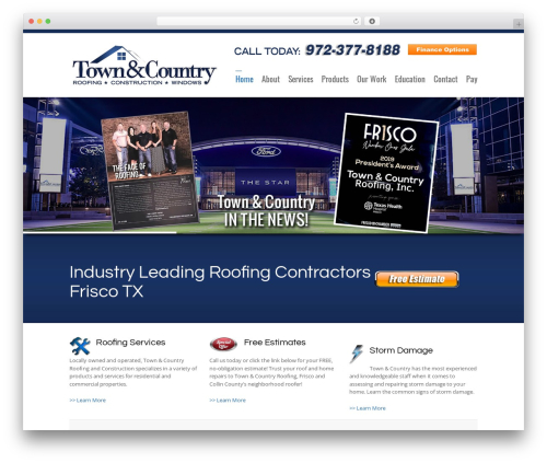 3clicks Theme business WordPress theme - townandcountryroofingdfw.com