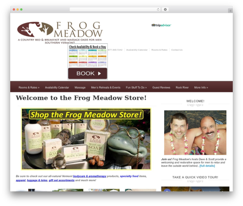 Ambassador best WordPress theme - frogmeadow.com/shop