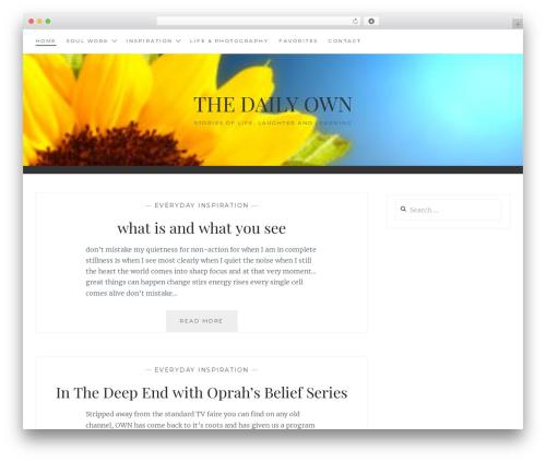 Anissa best free WordPress theme - thedailyown.com