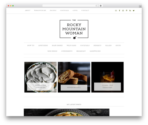 Best WordPress template Divine Theme - therockymountainwoman.com