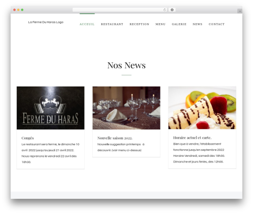 Best WordPress theme Avada - fermeduharas.be
