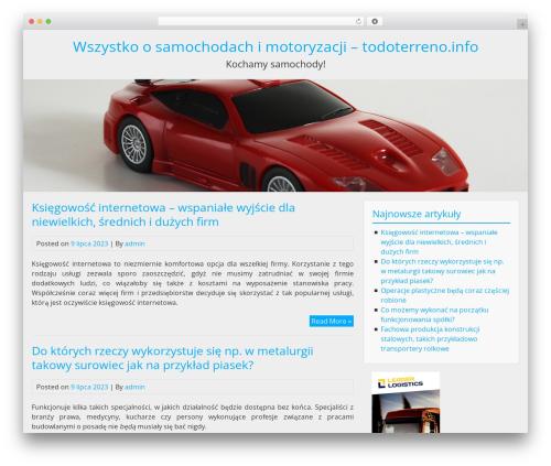BlueGray template WordPress free - todoterreno.info
