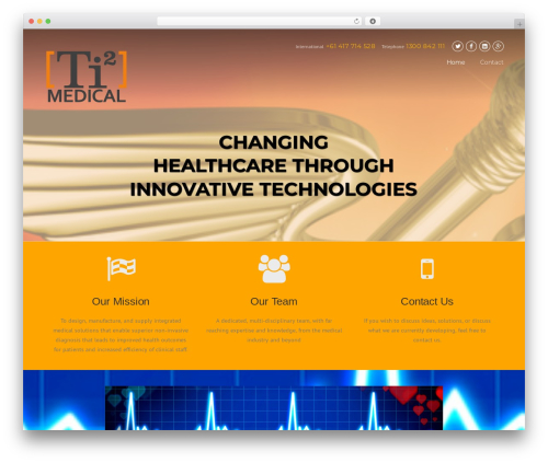 Construction  (shared on wplocker.com) medical WordPress theme - ti2medical.com.au