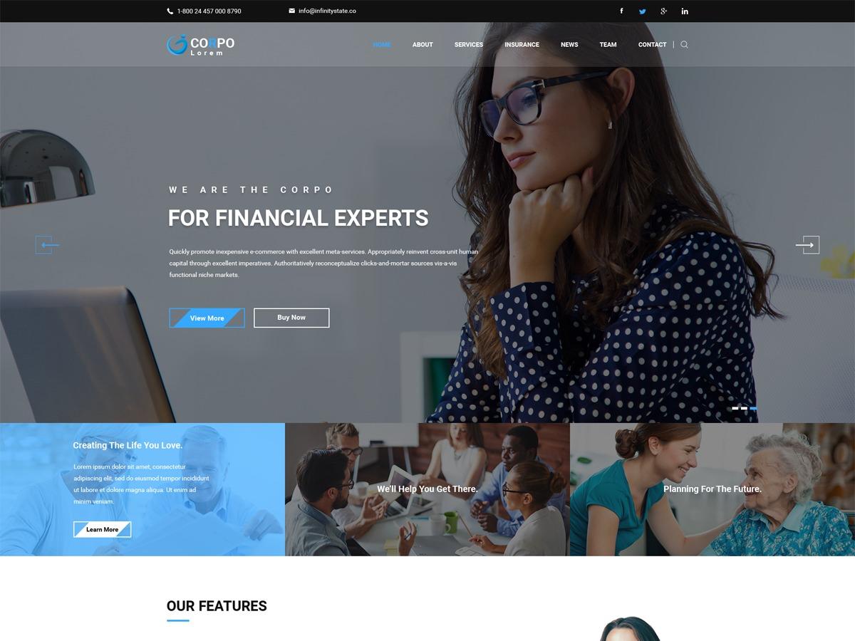 DT Corpo template WordPress