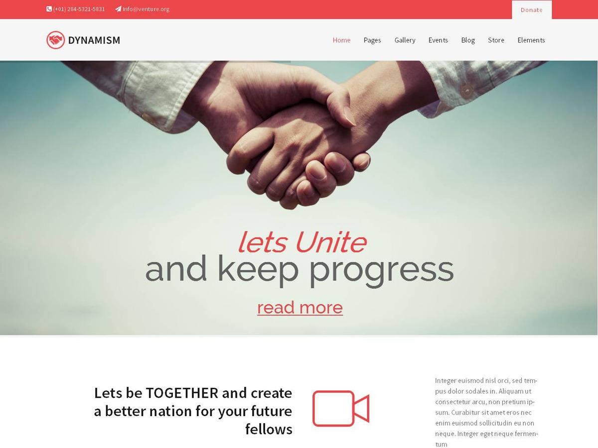 Dynamism theme WordPress