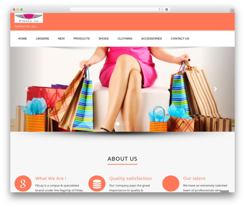 Enigma WordPress theme - fitlay.in