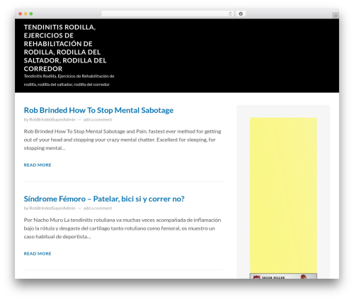 FastBlog free WordPress theme - tendinitisrodilla.com