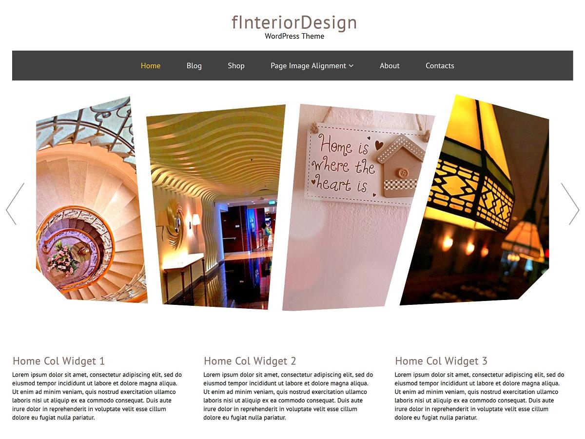fInteriorDesign best free WordPress theme