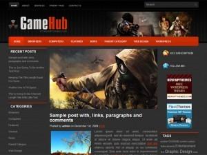 GameHub WordPress video template