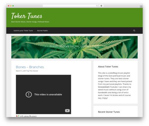 GeneratePress template WordPress free - tokertunes.com