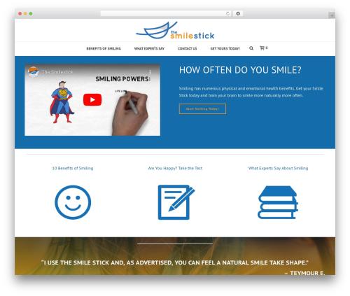 Jupiter theme WordPress - thepowerofsmiling.com