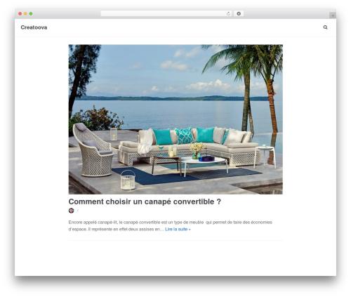 Neve WordPress website template - creatoova.com
