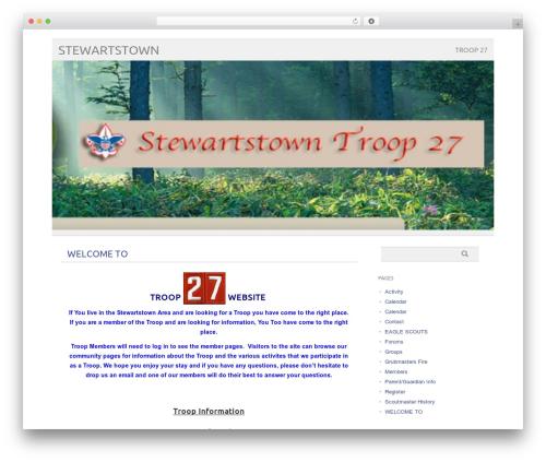 picolight WordPress page template - troop27.us