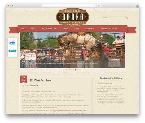 RetroPress WordPress page template - threeforksrodeo.com